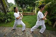 Evason Ana Mandara & Six Senses Spa ? Nha Trang. The Spa. Girls working at the Spa practicing traditional martial arts.