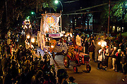 The Kings float in the Knights of Chaos parade as it rolls through the Uptown area on St. Charles Avenue in New Orleans, Louisiana, USA, 15 February 2009.