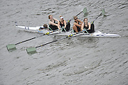 London, Great Britain,   Start No.446 CAMBRIDGE UNIV WOMEN V. Women's IM2 4+. approach the start at Mortlake, Photo from Chiswick Bridge.  Fullers,  Fours Head of the River Race, Championship Course, Mortlake to Putney, River Thames. Saturday   05/11/2011   [Mandatory Credit. Peter Spurrier/Intersport Images]
