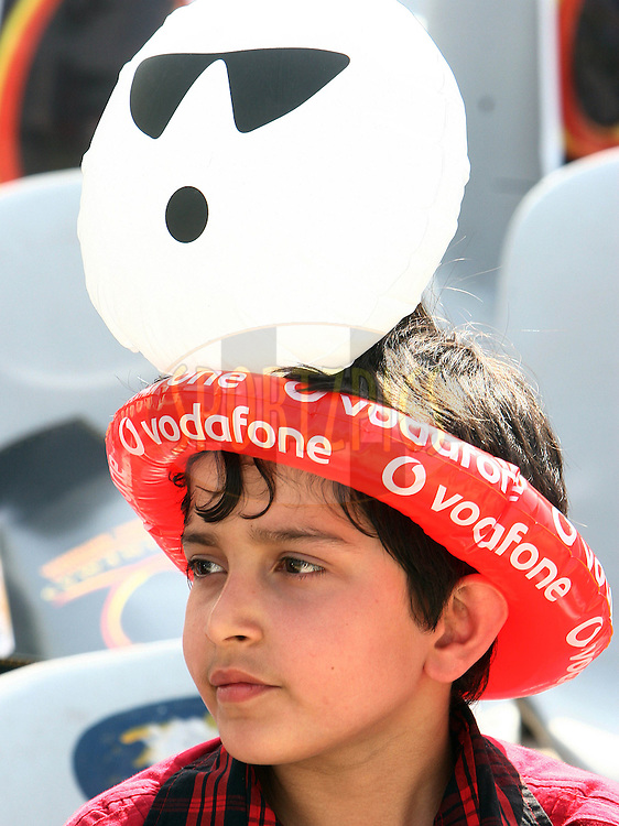 A young Indian cricket fan waits for the match to start during match 9 of the Indian Premier League ( IPL ) Season 4 between the Kings XI Punjab and the Chennai Super Kings held at the PCA stadium in Mohali, Chandigarh, India on the 13th April 2011..Photo by Money Sharma/BCCI/SPORTZPICS