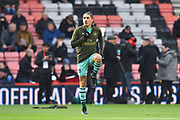 Hector Bellerin (2) of Arsenal warming up before the Premier League match between Bournemouth and Arsenal at the Vitality Stadium, Bournemouth, England on 25 November 2018.
