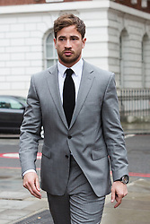 © Licensed to London News Pictures. 22/04/2016. London, UK. DANNY CIPRIANI leaving Westminster Magistrates Court. The Sale Sharks rugby player appears in connection with alleged drink driving charges following a collision between his Mercedes and a Toyota in the Chelsea area of west London shortly after 5am on 1st June. Photo credit : Vickie Flores/LNP
