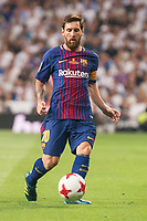 FC Barcelona's Leo Messi during Supercup of Spain 2nd match at Santiago Bernabeu Stadium in Madrid, Spain August 16, 2017. (ALTERPHOTOS/Borja B.Hojas)