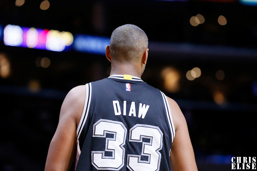 10 November 2014: San Antonio Spurs forward Boris Diaw (33) is seen during the San Antonio Spurs 89-85 victory over the Los Angeles Clippers, at the Staples Center, Los Angeles, California, USA.