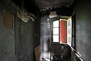 empty room in abandoned burned out house
