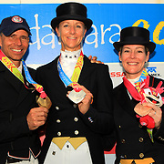 Steffen Peters, Heather Blitz and Marisa Festerling at the 2011 Pan American Games in Guadalajara, Mexico.