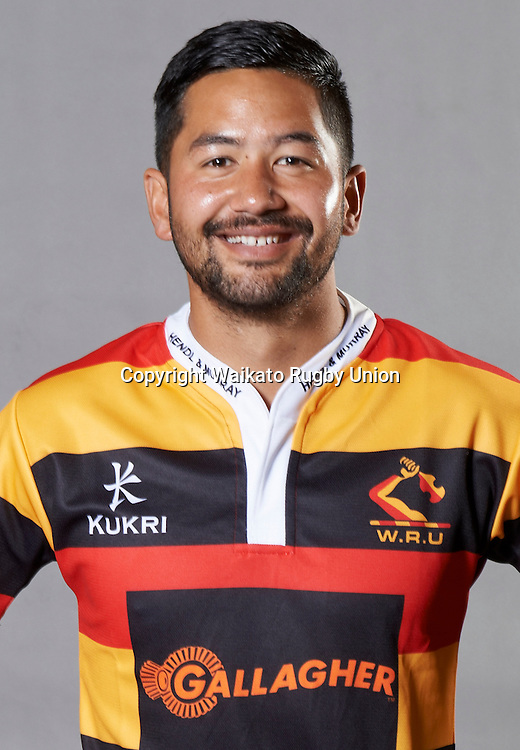 Chauncy Edwardson. Headshots of the Waikato ITM Cup rugby union team for the 2015 season.