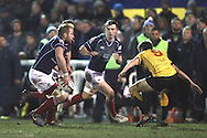 Mark Bright and Jamie Stevenson in action during the Green King IPA Championship match between London Scottish &amp; Cornish Pirates at Richmond, Greater London on 16th January 2015<br /> <br /> Photo: Ken Sparks | UK Sports Pics Ltd<br /> London Scottish v Cornish Pirates, Green King IPA Championship, 16h January 2015<br /> <br /> &copy; UK Sports Pics Ltd. FA Accredited. Football League Licence No:  FL14/15/P5700.Football Conference Licence No: PCONF 051/14 Tel +44(0)7968 045353. email ken@uksportspics.co.uk, 7 Leslie Park Road, East Croydon, Surrey CR0 6TN. Credit UK Sports Pics Ltd