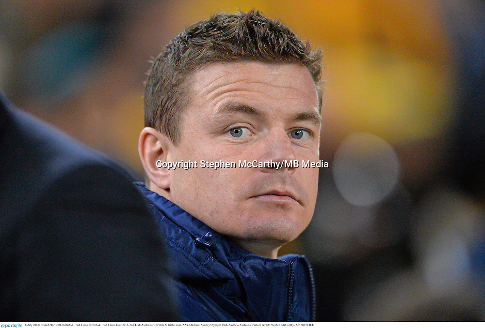 6 July 2013; Brian O'Driscoll, British & Irish Lions. British & Irish Lions Tour 2013, 3rd Test, Australia v British & Irish Lions. ANZ Stadium, Sydney Olympic Park, Sydney, Australia. Picture credit: Stephen McCarthy / SPORTSFILE