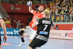 HANSEN Mikkel of Denmark during handball match between National teams of Germany and Denmark on Day 4 in Main Round of Men's EHF EURO 2018, on January 21, 2018 in Arena Varazdin, Varazdin, Croatia. Photo by Mario Horvat / Sportida
