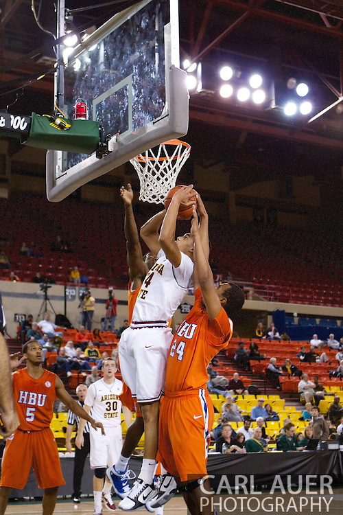 November 25th, 2010:  Anchorage, Alaska - Arizona States Trent Lockett (24) gets fouled as he attacks the hoop in the Sun Devils 73-55 win over Houston Baptist in their first round game of the Great Alaska Shootout.