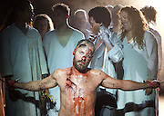 Jesus Christ Superstar <br /> by Tim Rice & Andrew Lloyd Webber <br /> at The Regent's Park Open Air Theatre, London, Great Britain <br /> press photocall<br /> 19th July 2016 <br /> <br /> Declan Bennett as Jesus <br /> <br /> <br /> <br /> <br /> Photograph by Elliott Franks <br /> Image licensed to Elliott Franks Photography Services