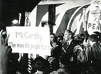 Senator Eugene McCarthy running for President in 1968 Eugene McCarthy during the 1968 Presidential Primary