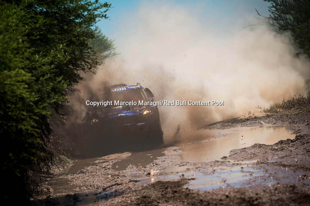 Mohamed Abu Issa (QAT) of X-Raid Team races during stage 02 of Rally Dakar 2017 from Resistencia to Tucuman, Argentina on January 3, 2017 // Marcelo Maragni/Red Bull Content Pool // P-20170103-00291 // Usage for editorial use only // Please go to www.redbullcontentpool.com for further information. //