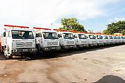 Contagem_MG, Brasil...Frota de caminhoes de uma companhia em Contagem...The truck fleet of a company in Contagem...Foto: LEO DRUMOND / NITRO