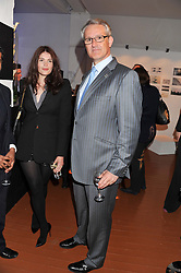 GEMMA ARTERTON and FRANK VAN DER POST Managing Director of Brands & Customer Experience of British Airways Plc at the launch of Flight BA2012 - an evening of Art, Food and Film to see Olympic Games inspires work by rising British Talent held at BA's pop up venue at 3-10 Shoreditch High Street, London E1 on 3rd April 2012.