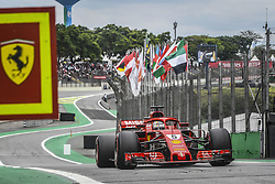November 10, 2018 - Sao Paulo, Brazil - 05 VETTEL Sebastian (ger), Scuderia Ferrari SF71H, action during the 2018 Formula One World Championship, Brazil Grand Prix from November 08 to 11 in Sao Paulo, Brazil -  FIA Formula One World Championship 2018, Grand Prix of Brazil World Championship;2018;Grand Prix;Brazil  (Credit Image: © Hoch Zwei via ZUMA Wire)