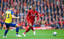 LIVERPOOL, ENGLAND - Saturday, September 22, 2018: Liverpool's Georginio Wijnaldum during the FA Premier League match between Liverpool FC and Southampton FC at Anfield. (Pic by Jon Super/Propaganda)