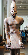 Red Granite Figure of a King of Egypt (meophis II or Tuthmosis III from the temple of Karnak, 18th Dynasty. Circa 1450 BC