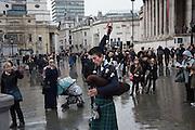 Trafalgar Sq. Entertainers, London,  2 January 2016