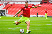Sheffield United Billy Sharp (10) warming up during the Pre-Season Friendly match between Barnsley and Sheffield United at Oakwell, Barnsley, England on 27 July 2019.