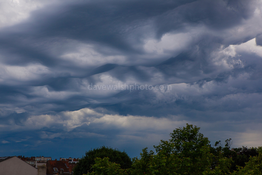 Storm cloud formations over Brussels, June 9 2014.
