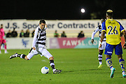 Forest Green Rovers Liam Noble(15) crosses the ball during the Vanarama National League match between Solihull Moors and Forest Green Rovers at the Automated Technology Group Stadium, Solihull, United Kingdom on 25 October 2016. Photo by Shane Healey.