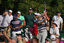 June 16, 2018 - Southampton, NY, USA - Dustin Johnson hits from the 1st tee during the third round of the 2018 U.S. Open at Shinnecock Hills Country Club in Southampton, N.Y., on Saturday, June 16, 2018. (Credit Image: © Brian Ciancio/TNS via ZUMA Wire)