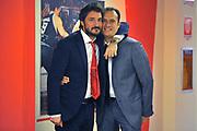 DESCRIZIONE : Varese Lega A 2014-2015 Openjob Metis Varese Acqua Vitasnella Cantu'<br /> GIOCATORE : Gianmarco Pozzecco Paolo Avantaggiato<br /> CATEGORIA : Pregame Fairplay<br /> SQUADRA : Openjob Metis Varese Acqua Vitasnella Cantu'<br /> EVENTO : Campionato Lega A 2014-2015<br /> GARA : Openjob Metis Varese Acqua Vitasnella Cantu'<br /> DATA : 12/10/2014<br /> SPORT : Pallacanestro<br /> AUTORE : Agenzia Ciamillo-Castoria/S.Ceretti<br /> GALLERIA : Lega Basket A 2014-2015<br /> FOTONOTIZIA : Varese Lega A 2014-2015 Openjob Metis Varese Acqua Vitasnella Cantu'<br /> PREDEFINITA :