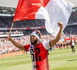 14-05-2017 NED: Kampioenswedstrijd Feyenoord - Heracles Almelo, Rotterdam<br /> In een uitverkochte Kuip pakt Feyenoord met een 3-0 overwinning het landskampioenschap / Tonny Vilhena #10
