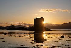 Castle Stalker Sunset, Loch Laich, 20 March 2020