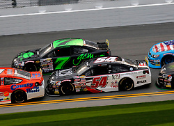 February 9, 2019 - Daytona, FL, U.S. - DAYTONA, FL - FEBRUARY 09: Natalie Decker(54) N29 Technologies Toyota, Codie Rohrbaugh (7) Grant County Mulch Chevrolet  the running of the Lucas Oil 200 on February 9, 2019 at Daytona International Speedway in Daytona Beach, Florida (Photo by Jeff Robinson/Icon Sportswire) (Credit Image: © Jeff Robinson/Icon SMI via ZUMA Press)