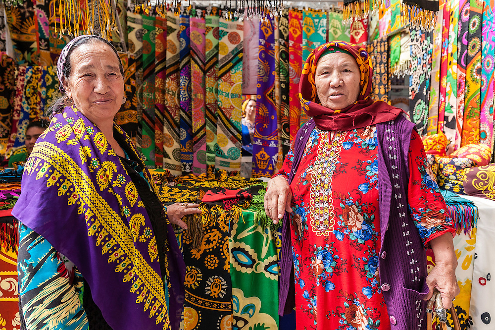 Oriental Bazaar Altyn Asyr, Altyn Asyr g&uuml;ndogar bazary is the first-largest market in Turkmenistan, and 5th in Central Asia.Located in the outskirts of Ashgabat, in the residential area Choganly. Built in the shape resembling a Turkmen carpet ornament of Ahal Province. The vast territory of 154 hectares. At the heart of the bazaar - a high clock tower, the main landmark. On its territory there are 2,155 shops.<br /> It was built in place of the demolished Tolkuchka Bazaar, is a noted extensive market sprawled across the desert suburbs of Ashgabat, Turkmenistan, a few kilometres from the centre. It is the largest open air market in Central Asia. It is noted in particular for its sale of large red Turkmen rugs. The market thrives on a Sunday and sells a massive range of goods sale, from Turkmen carpets, handicrafts and silks, jewelry and jeans to laundry soap, plastic bags to bales of rice. It also has a notable camel market.