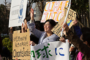 Japanese people take part in the first Fridays for Future climate demonstration outside the National Diet Building (Japanese Parliament) in Tokyo, Japan. Friday February 22nd 2019. Around 30, mostly younger adults, attended the demo from 3pm to 4pm The Global Strike for Future was started by Swedish teenager, Greta Thunberg who began striking from school lesson to demand adults did something to ensure she had the future for which she was studying. Since then thousands have taken part in school strikes around the world