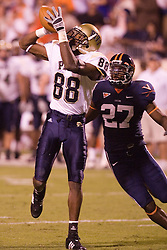Pittsburgh wide receiver Oderick Turner (88) makes a deep reception beating Virginia safety Jamaal Jackson (27)...The Virginia Cavaliers defeated the Pittsburgh Panthers 44-14 at Scott Stadium in Charlottesville, VA on September 29, 2007.