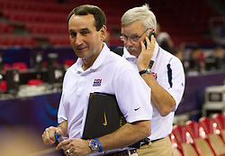 Head coach Mike Krzyzewski of the USA Senior Men's National Team during practice  prior to the 2010 World Championships of Basketball on August 27, 2010 at Abdi Ipekci Arena in Istanbul, Turkey. (Photo by Vid Ponikvar / Sportida)