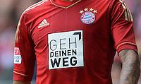 FUSSBALL   1. BUNDESLIGA  SAISON 2012/2013   3. Spieltag FC Bayern Muenchen - FSV Mainz 05     15.09.2012 FC Bayern Muenchen Trikot mit dem Schriftzug Geh Dein Weg