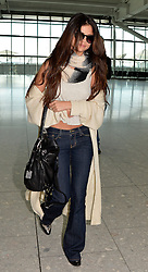 Selina Gomez departs Heathrow Airport for the US, United Kingdom, Tuesday, 18th February 2014. Picture by David Dyson / i-Images