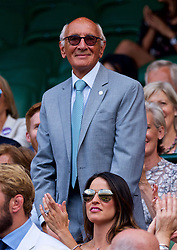 LONDON, ENGLAND - Saturday, July 7, 2018: Former BBC sport commentator Barry Davies in the Royal Box before the Gentlemen's Singles 3rd Round match on day six of the Wimbledon Lawn Tennis Championships at the All England Lawn Tennis and Croquet Club. (Pic by Kirsten Holst/Propaganda)