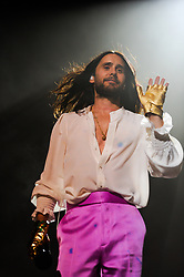 Jared Leto, Thirty Seconds to Mars' singer, in concert in the Cavea of the Auditorium Parco della Musica during the July Sounds Good review. Rome (Italy), July 3rd, 2019 (Credit Image: © Marilla Sicilia/Mondadori Portfolio via ZUMA Press)