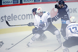 28.08.2015, Dom Sportova, Zagreb, CRO, KHL League, KHL Medvescak vs Admiral Vladivostok, 2. Runde, im Bild Nikita Lisov, Tom Zanoski. // during the Kontinental Hockey League, 2nd round match between KHL Medvescak and Admiral Vladivostok at the Dom Sportova in Zagreb, Croatia on 2015/08/28. EXPA Pictures © 2015, PhotoCredit: EXPA/ Pixsell/ Goran Jakus<br /> <br /> *****ATTENTION - for AUT, SLO, SUI, SWE, ITA, FRA only*****