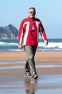 Karlos Arguiñano poses at his home of Zarautz, Basque Country on February, 9th 2009. Karlos Arguiñano, born in 1948, is a chef, a famous TV host, a TV producer and Basque pilota businessman. When he was 17 years old, he started to cook. Basque chef Karlos Arguiñano has a hotel-restaurant at  Zarautz beach since 1978. (Ander Gillenea / Bostok Photo)
