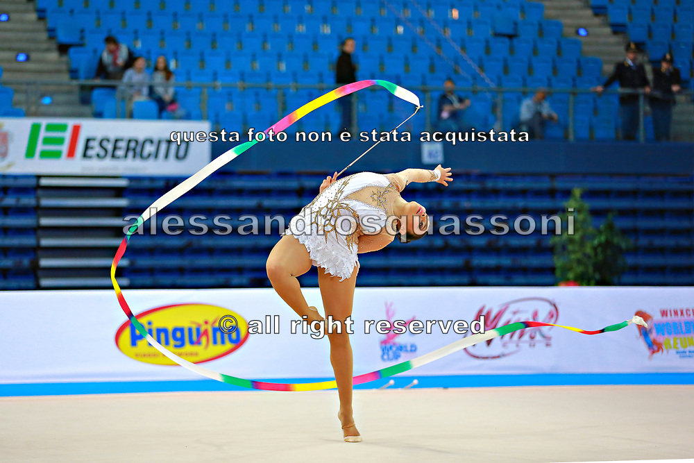 Castillo Galindo during qualifying at ribbon in Pesaro World Cup 11 April 2015.<br />