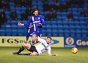 Gillingham midfielder Bradley Dack is fouled during the Sky Bet League 1 match between Gillingham and Bury at the MEMS Priestfield Stadium, Gillingham, England on 14 November 2015. Photo by David Charbit.