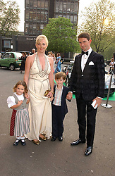 COUNT & COUNTESS MANFREDIE DELLA GHERARDESCA with their children ALIOTTO and MARGHERITA at the NSPCC's Dream Auction held at The Royal Albert Hall, London on 9th May 2006.<br />
