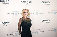 Britney Spears is pictured during a Lingerie Fashion Show in Copenhagen to promote her new Intimate range
