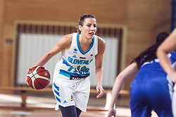 Eva Rupnik of Slovenia during Women's Basketball - Slovenia vs Slovaska on the 14th of June 2019, Dvorana Poden, Skofja Loka, Slovenia. Photo by Matic Ritonja / Sportida