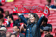 Benfica fan during the Emirates Cup 2017 match between Leipzig and Benfica at the Emirates Stadium, London, England on 30 July 2017. Photo by Sebastian Frej.
