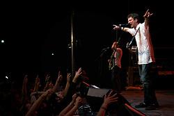 Riverstage, Great Plaza of Penn's Landing, Philadelphia, PA - September 6-9, 2012; Fans enjoy the energetic show of Frank Turner.
