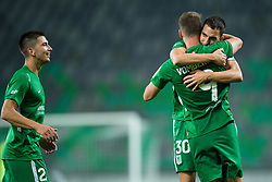 Vitaljis Maksimenko, Branko Ilic, Andres Vombergar during football match between NK Olimpija Ljubljana and Aluminij in Round #9 of Prva liga Telekom Slovenije 2018/19, on September 23, 2018 in Stozice Stadium, Ljubljana, Slovenia. Photo by Morgan Kristan
